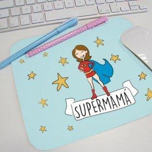 """Alfombrilla para ratón """"Supermamá"""" o """"Superpapá"""""""