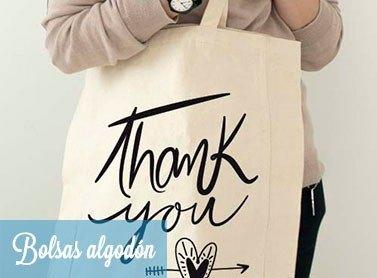 Bolsas de algodón reforzadas con mensajes divertidos